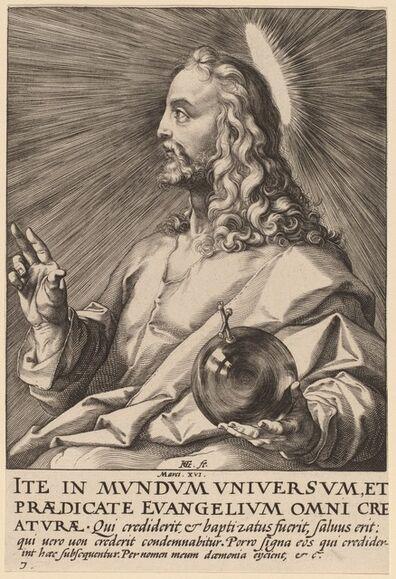 Hendrik Goltzius, 'Christ', probably 1589
