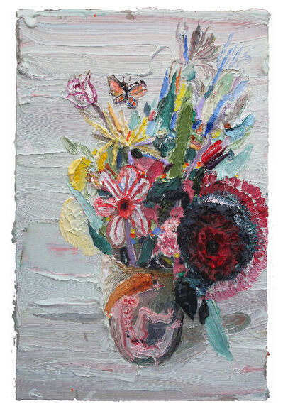 Allison Schulnik, 'Butterfly with Flowers', 2012