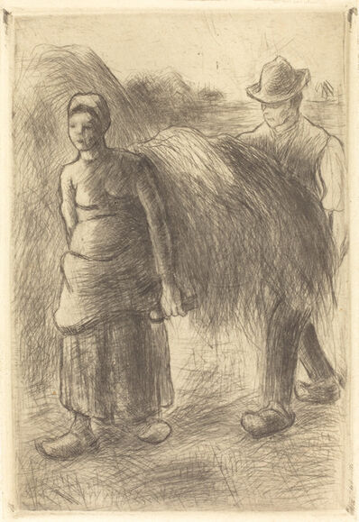 Camille Pissarro, 'Peasants Carrying Hay (Paysans portant du foin)', 1900