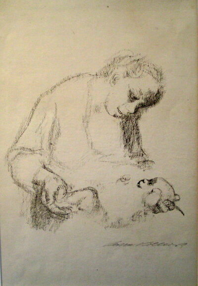 Käthe Kollwitz, 'Junge Mutter mit Saugling  (Young Mother with Baby)', 1926
