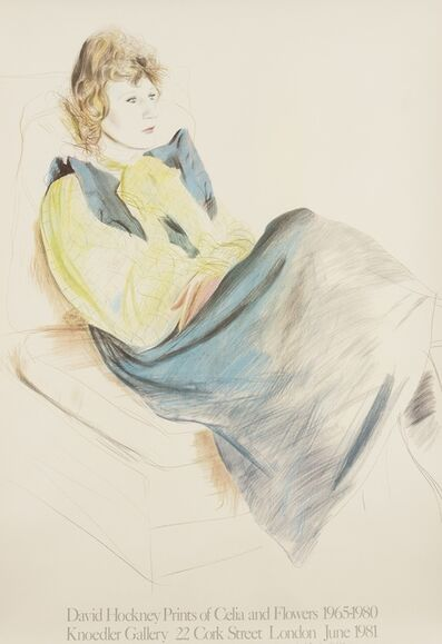 After David Hockney, 'A poster for David Hockney Prints of Celia and Flowers', 1981