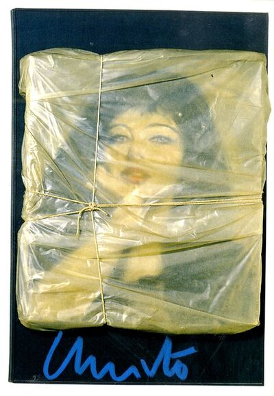 Christo, 'Wrapped Portrait of Jeanne-Claude. Hand Signed', 1963