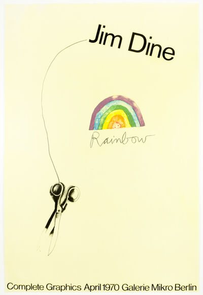 Jim Dine, 'Galerie Mikro (Scissors and Rainbow 1969) vintage poster', 1970