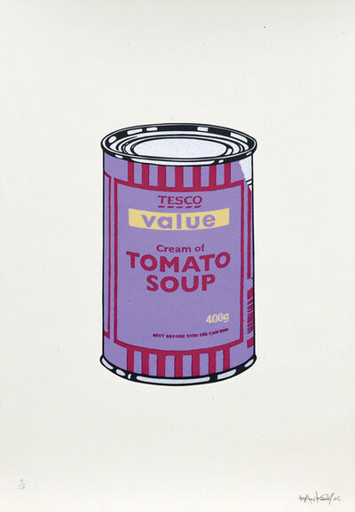 Banksy, 'Soup Cans. Violet Cherry Beige', 2005