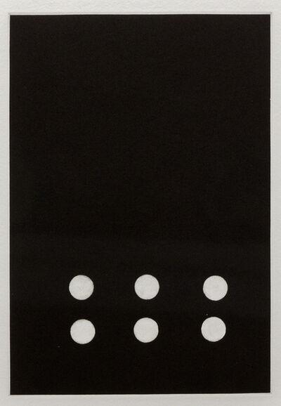 Donald Sultan, 'Dominoes (Six)', 1990