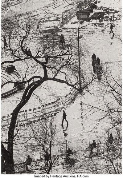 André Kertész, 'Melting Snow', 1970