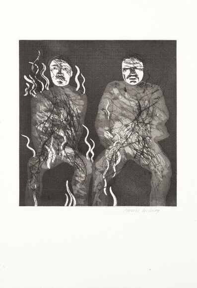 David Hockney, 'Corpses on Fire, from 'Illustrations for Six Fairy Tales from the Brothers Grimm' (MCA Tokyo 88; Scottish Arts Council 91)', 1969
