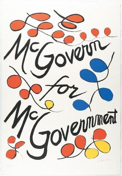 Alexander Calder, 'McGovern for McGovernment', 1972