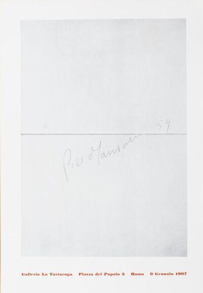 Piero Manzoni, 'Solo exhibition', 1967