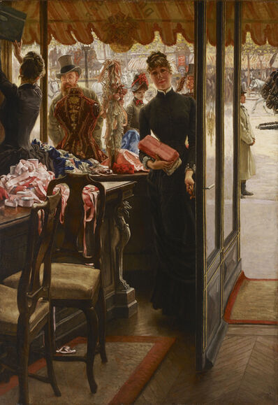 James Jacques-Joseph Tissot, 'The Shop Girl', 1883-1885