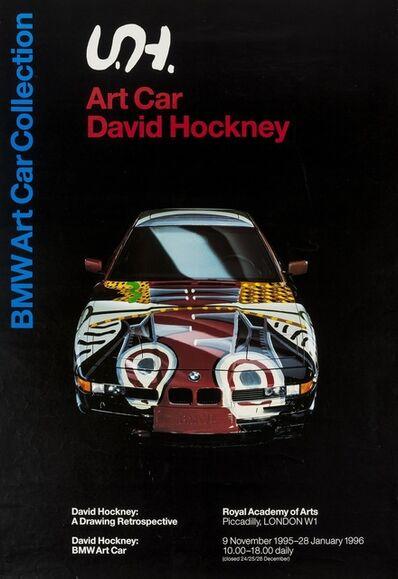 After David Hockney, 'A poster for David Hockney: BMW Art Car', 1995