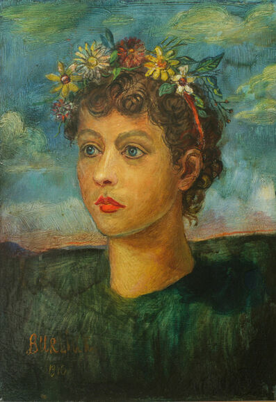 David Burliuk, 'Portrait of Ida', 1946