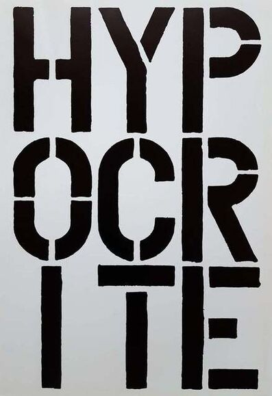 Christopher Wool, 'Hypocrite - page from the Black Book', 1989