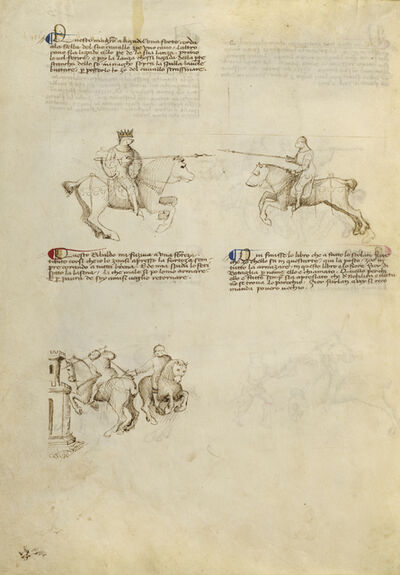 Fiore Furlan dei Liberi da Premariacco, 'Equestrian Combat with Lance and Dagger', 1410