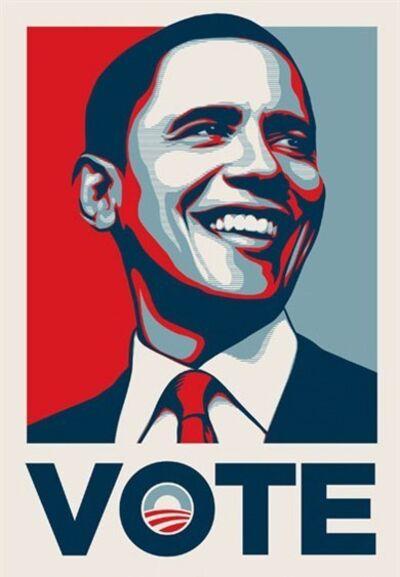 Shepard Fairey, 'Barack Obama VOTE', 2008