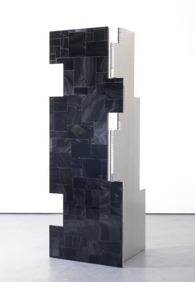 Mark Hagen, 'a parliament of some things (Additive and Subtractive Sculpture, Obsidian Screen, Panels 1 & 2)', 2014