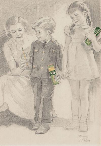 Frances Tipton Hunter, 'Preparing for School, Pencil advertisement', 1930-1939