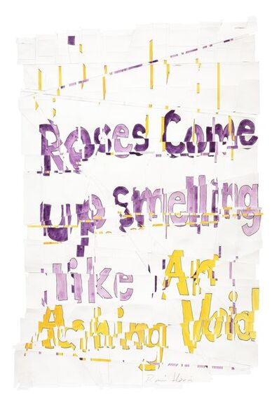 Roni Horn, 'Hack Wit - aching roses', 2014