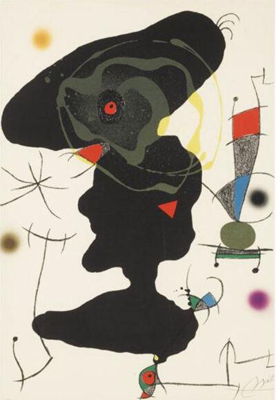 Joan Miró, 'Oda a Joan Miro: Plate V', 1973