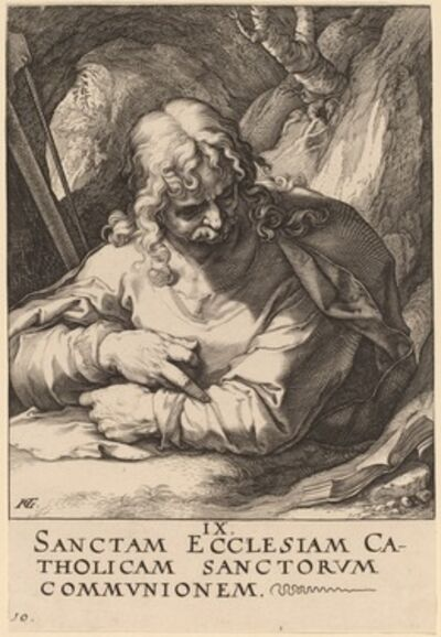 Hendrik Goltzius, 'Saint James the Lesser', probably 1589