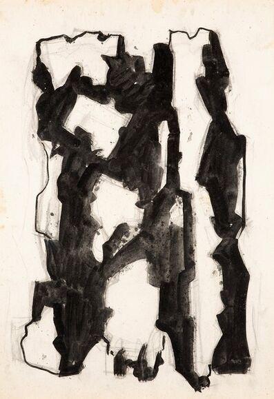 Leoncillo Leonardi, 'Incontro d'inverno (uomini tra luce e ombra)', 1957-64