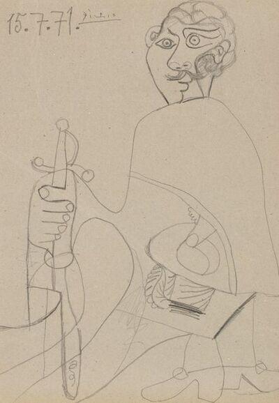 Pablo Picasso, 'Mousquetaire à l'épée', 1971