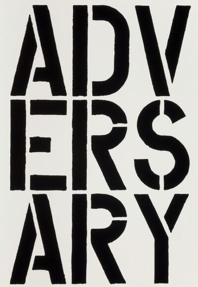 Christopher Wool, 'Adversary (Page from Black Book)', 1989