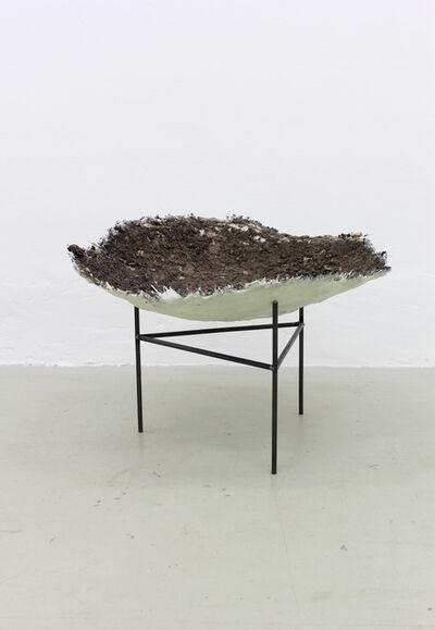 Björn Braun, 'untitled (Wildschweinkessel),', Resin, soil, steel