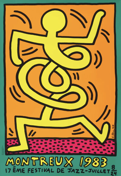 Keith Haring, 'Montreux Jazz Festival, Original screen-print poster ', 1983
