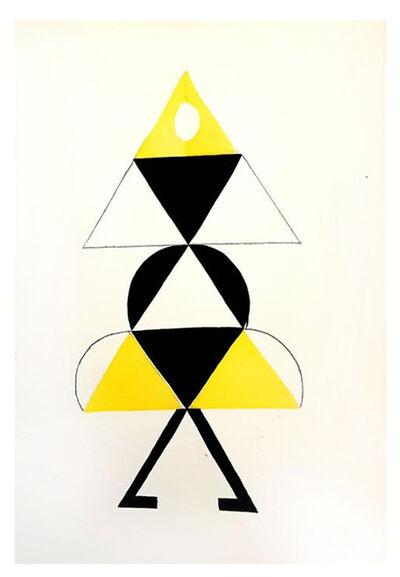 """Sonia Delaunay, 'Original Pochoir """"27 Living Paintings XXIV"""" by Sonia Delaunay', 1969"""