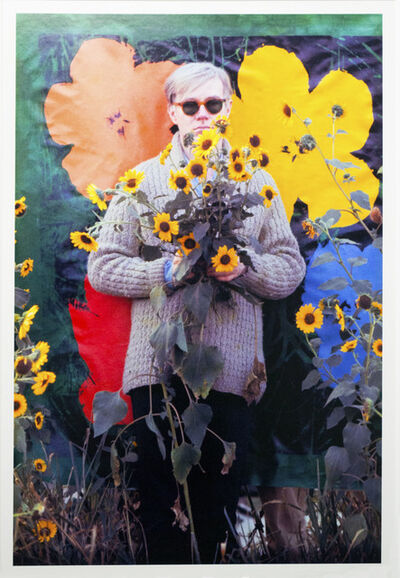 William John Kennedy, 'Andy Warhol with his Flowers in the background (Museum Edition)', 1964