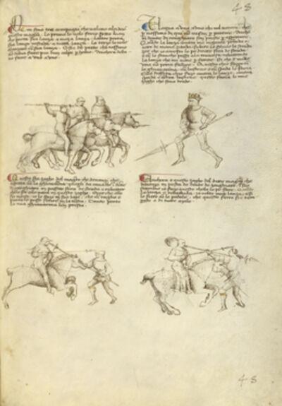 Fiore Furlan dei Liberi da Premariacco, 'Combat against an Equestrian Opponent with Lance', 1410