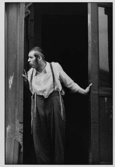 Leonard Freed, 'Hasidic Man at Door, Williamsburg, Brooklyn, NYC ', 1954
