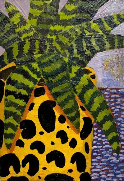 Anna Valdez, 'Leopard Vase with Striped Bromeliad', 2020
