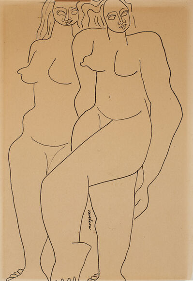 "Louise Nevelson, 'Untitled ""Sisters""', 1932"