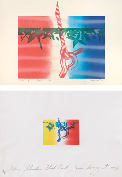 James Rosenquist, 'Horse Blinders; and Horse Blinders Flash Card (U.L.A.E. 10; 12, G. 19; 23)', 1968; and 1969