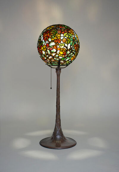 Tiffany Studios, 'Rare 'Autumn Leaves' Ball Lamp', ca. 1900