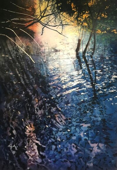 David T. Kessler, 'Backlit Willows', 2018