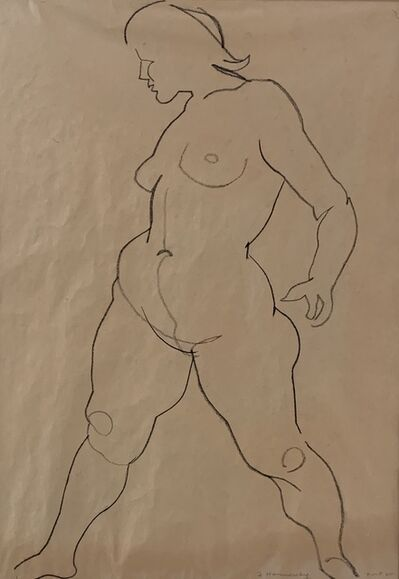 Frederick Hammersley, 'Untitled (Nude, Double Sided)', 1960
