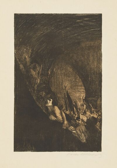 Käthe Kollwitz, 'Arming in a Vault', 1902