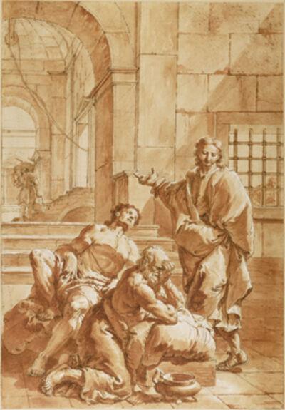 Francesco Salvator Fontebasso, 'Joseph Interpreting the Dreams of his Fellow Prisoners', 1750