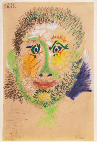 Pablo Picasso, 'Tête d'homme (9 June 1966)', 1996