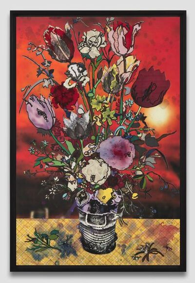 Matthew Day Jackson, 'Flowers in a Glass Vase (Milan)', 2019