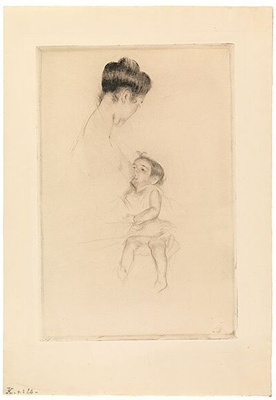 Mary Cassatt, 'Mother Louise Nursing Her Child', 1899