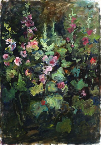 Mary Page Evans, 'Mid Summer Hollyhocks', 2003