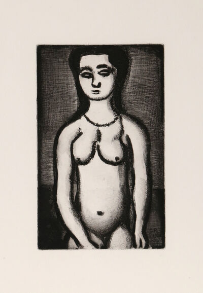 Georges Rouault, 'Fille Nue from Le Reincarnations du Pere Ubu', 1928