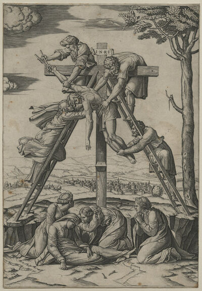 Marcantonio Raimondi, 'Descent from the Cross [after Raphael Sanzio (1483-1520)]', ca. 1520