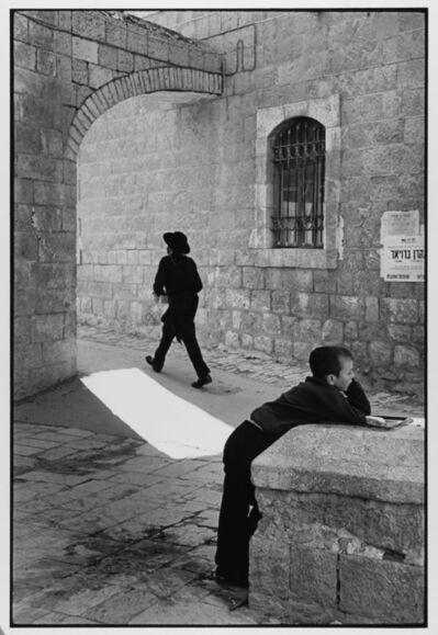 Leonard Freed, 'Man Rushes, Child Doesn't Jerusalem, Israel ', 1967