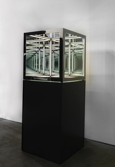 "Anthony James, '24"" cube (Black Nickel)', 2020"