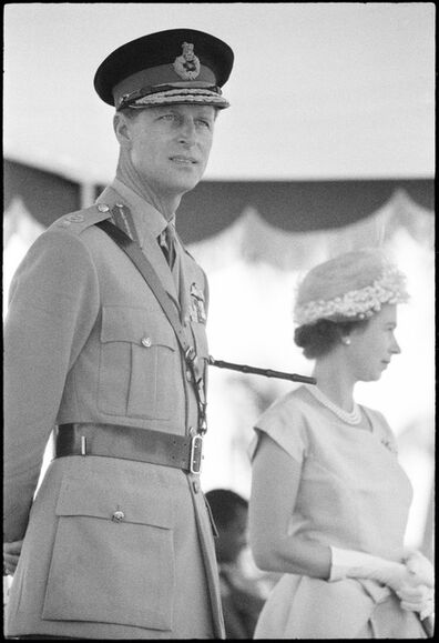 Ian Berry (1934), 'Prince Philip and Queen Elizabeth II on a state visit to Ghana', 1961